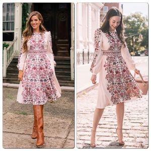 Gal Meets Glam Floral Fit & Flare Chloe Dress 16
